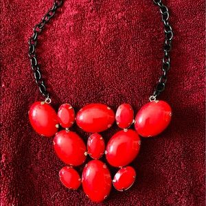 Apple Red bubble statement necklace